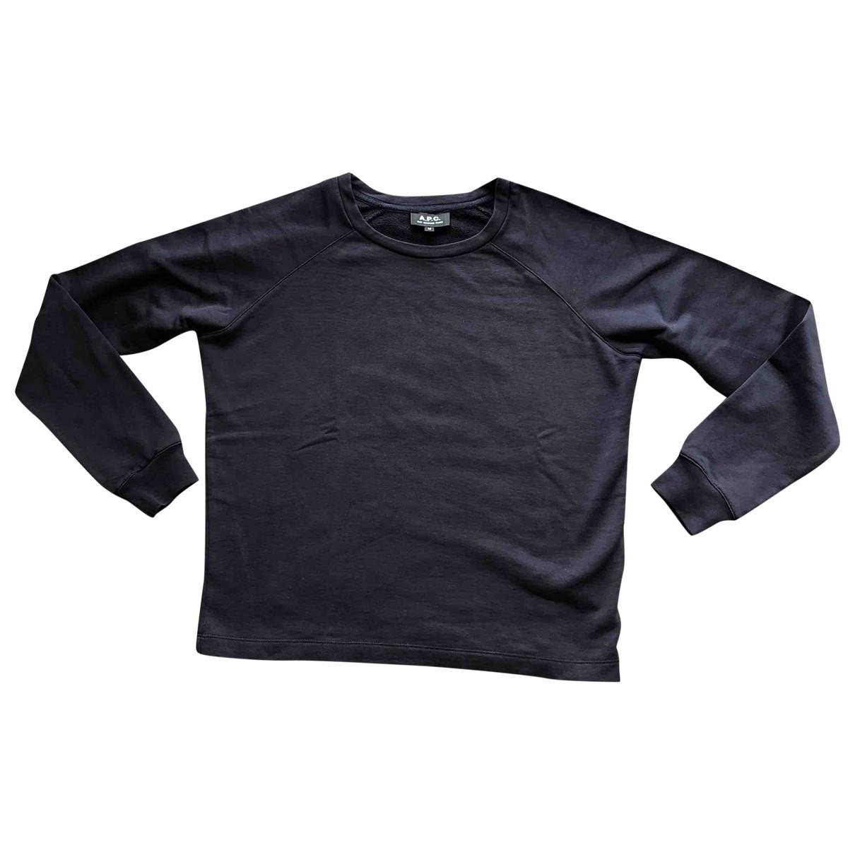 Apc \N Pullover in  Marine Baumwolle