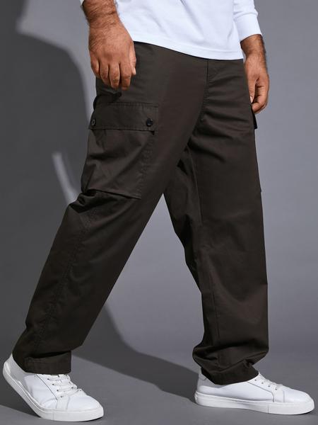 Yoins Men Fashion Loose Multi-pocket Drawstring Utility Casual Pants