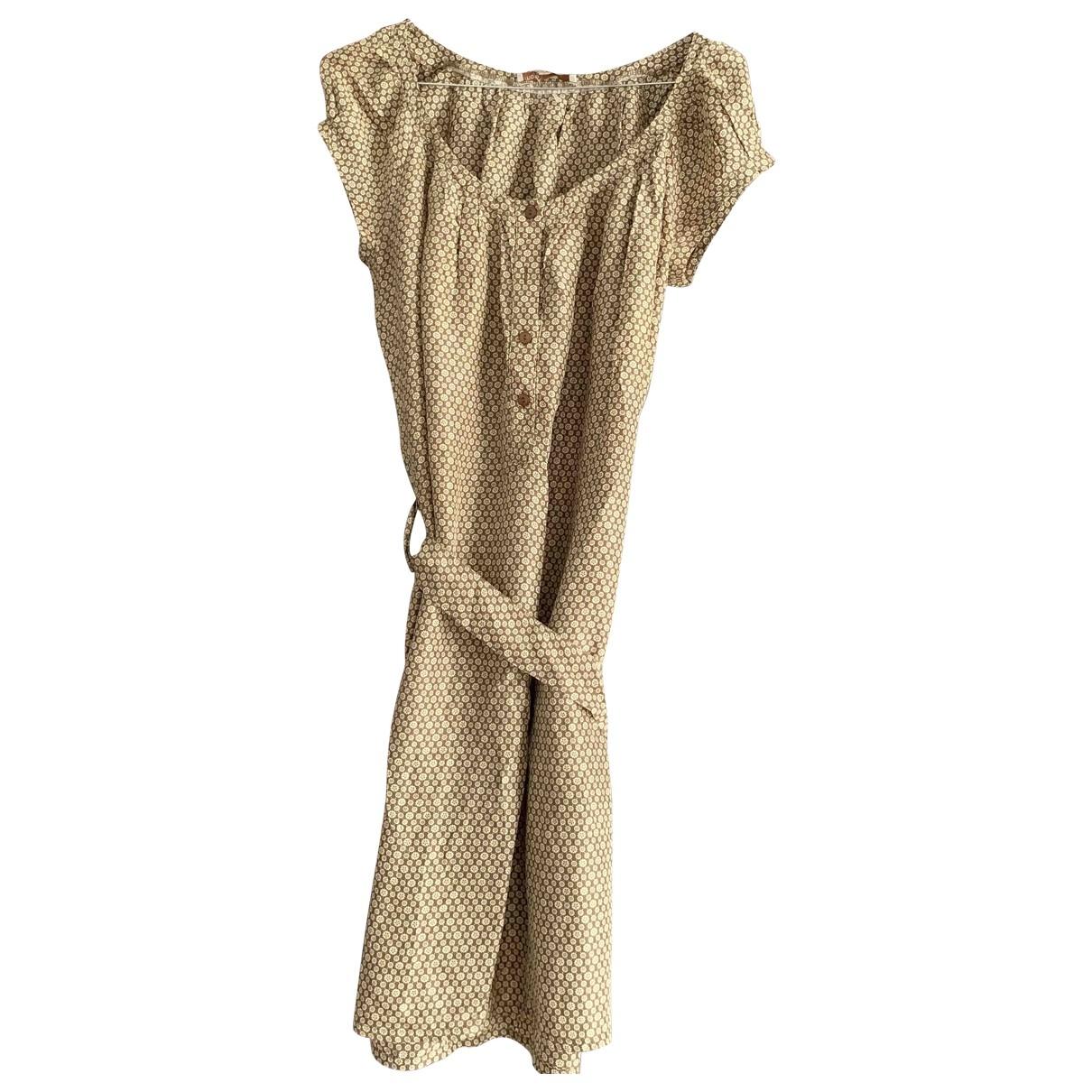 Maje \N Beige Silk dress for Women 40 FR