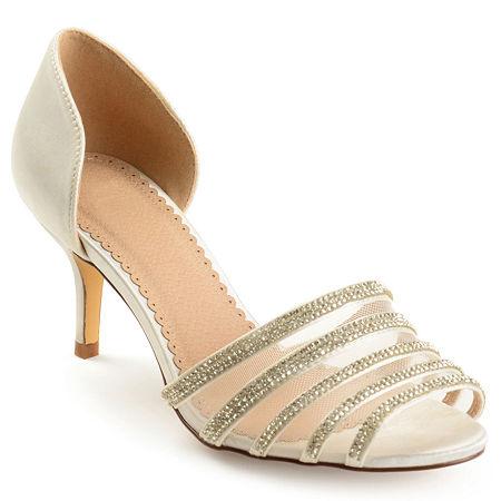Journee Collection Womens Simone Pumps Stiletto Heel, 8 Medium, White