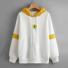 Sunflower Embroidery Hoodie