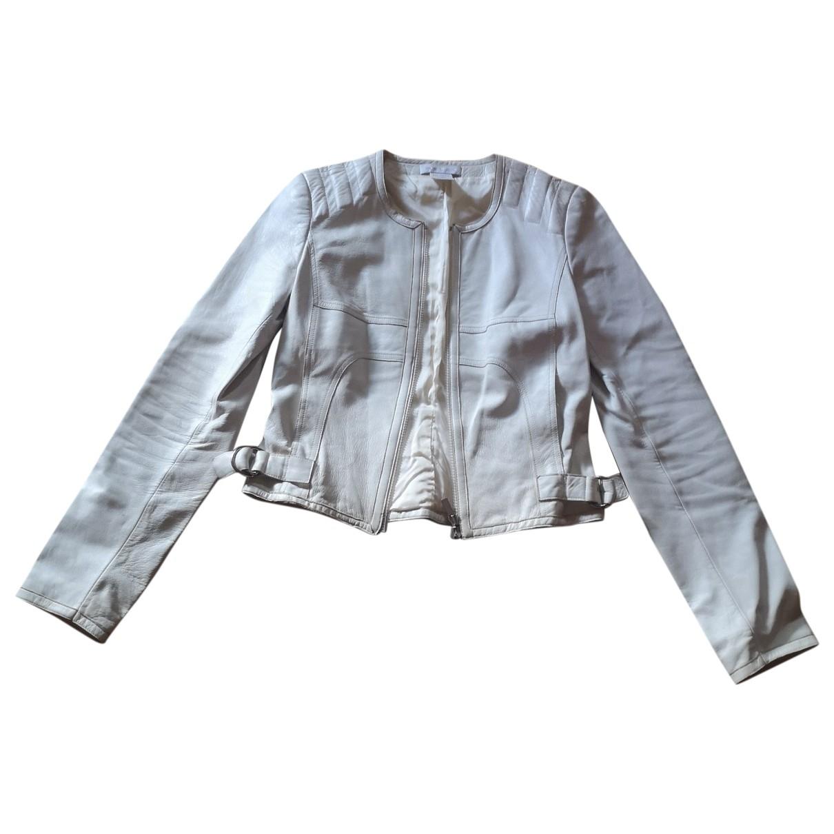 Paco Rabanne - Veste   pour femme en cuir - blanc
