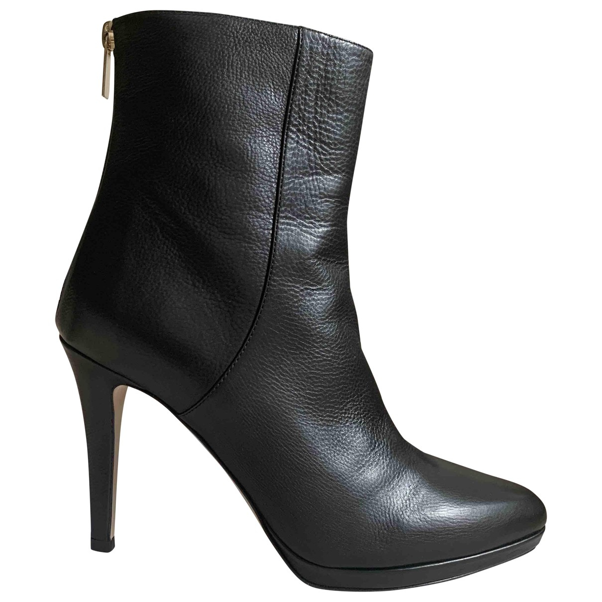 Jimmy Choo \N Black Leather Ankle boots for Women 37.5 EU