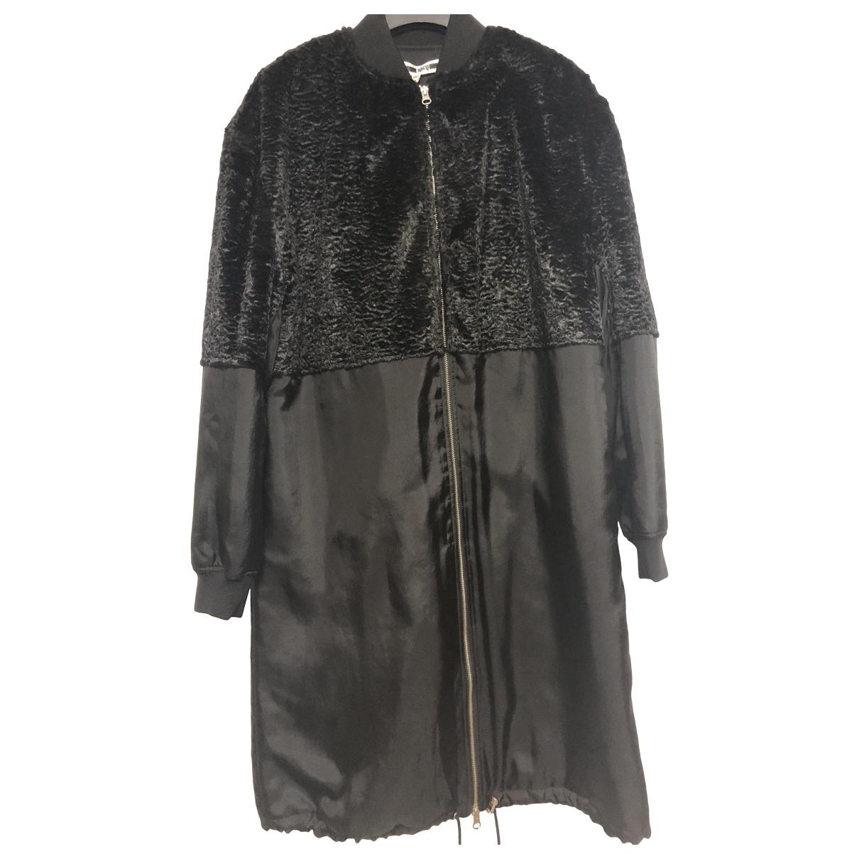 Mcq - Manteau   pour femme en fourrure synthetique - noir
