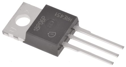 Infineon P-Channel MOSFET, 13.2 A, 60 V, 3-Pin TO-220  SPP18P06PHXKSA1 (5)