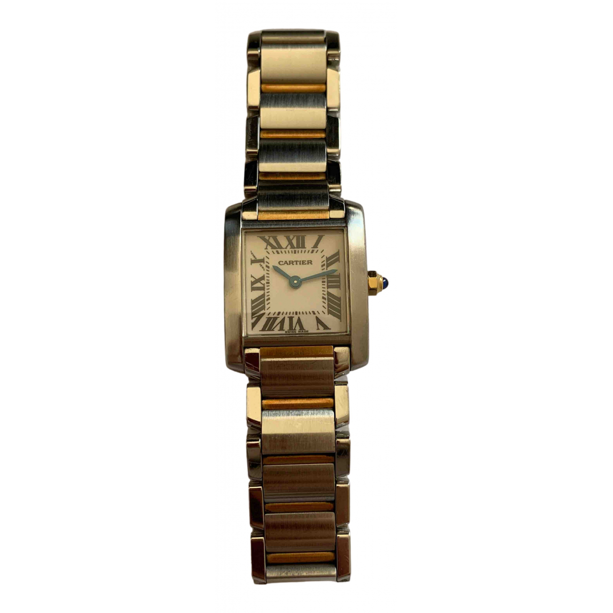Cartier Tank Française Silver gold and steel watch for Women \N