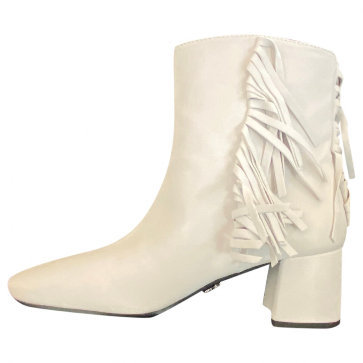 Prada N White Leather Ankle boots for Women 40 IT