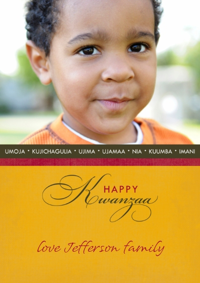 Kwanzaa Photo Cards Mail-for-Me Premium 5x7 Flat Card, Card & Stationery -Contemporary Kwanzaa