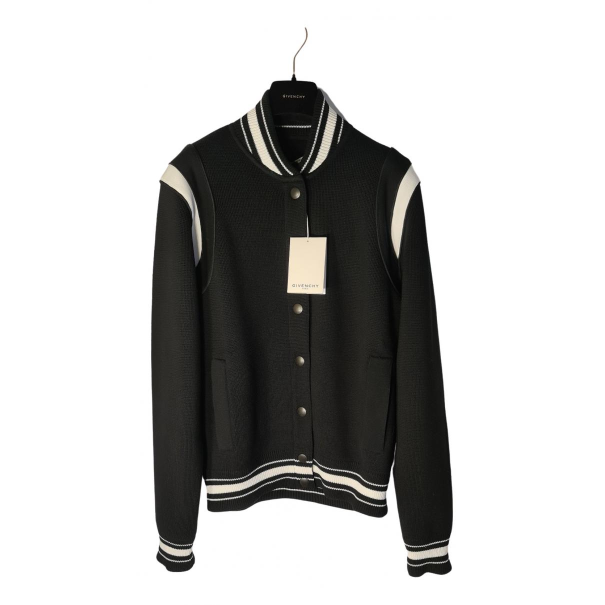 Givenchy \N Jacke in  Schwarz Wolle