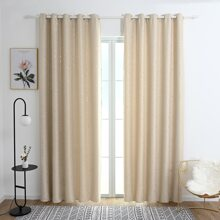 Star Print Single Panel Blackout Curtain