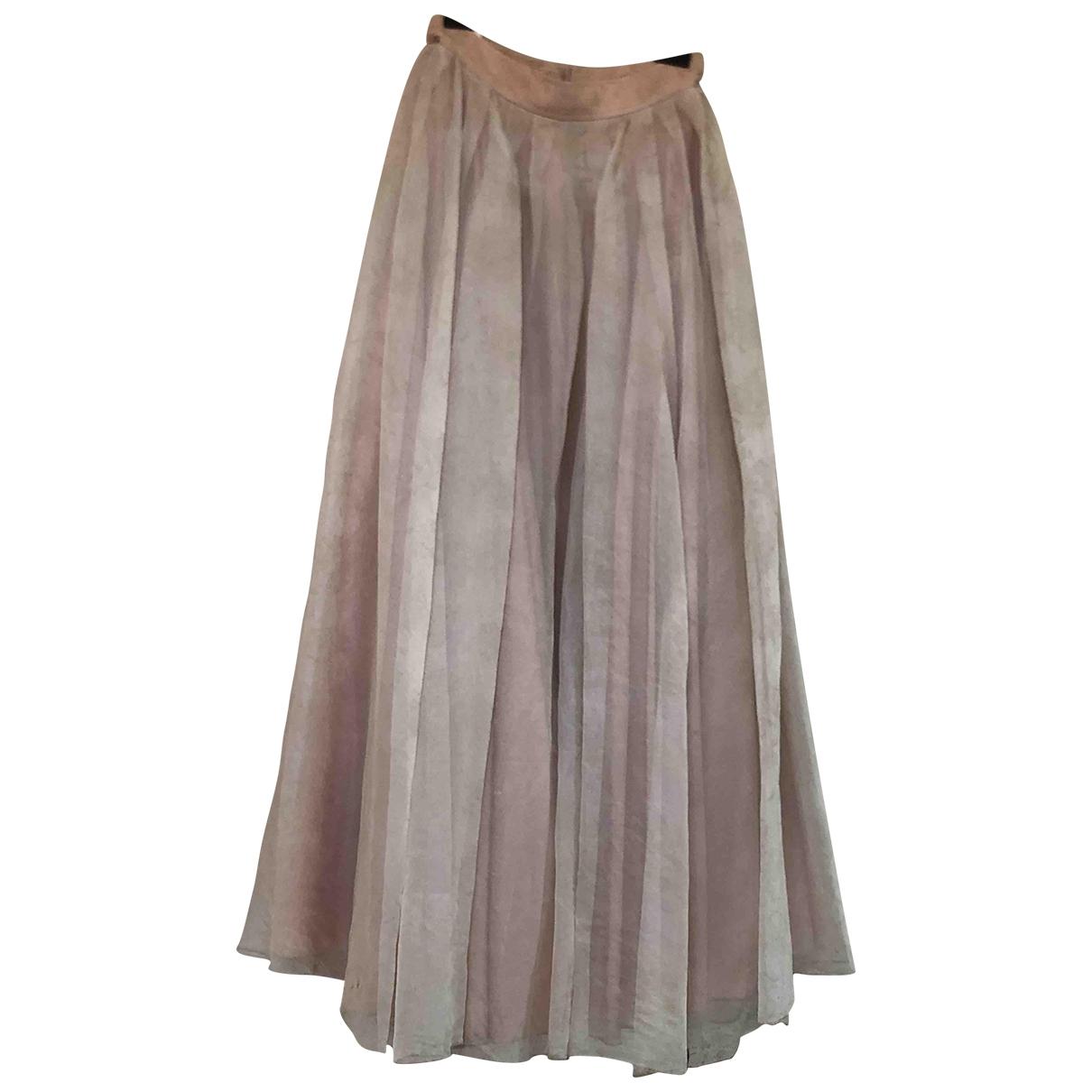 Jenny Packham - Jupe   pour femme en soie - rose
