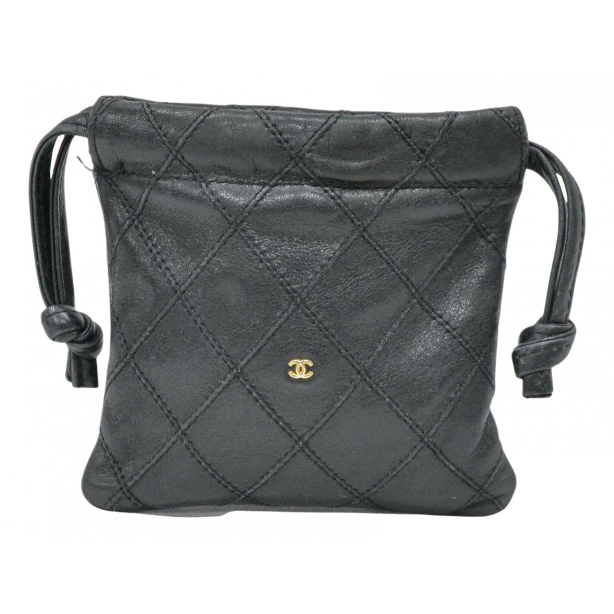 Chanel - Petite maroquinerie   pour femme en cuir - noir