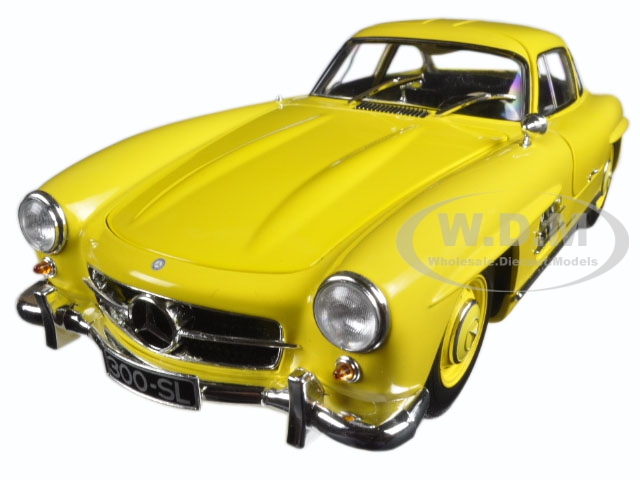 1954 Mercedes 300 SL Gullwing W198 I Yellow Limited Edition to 333pcs 1/18 Diecast Model Car by Minichamps