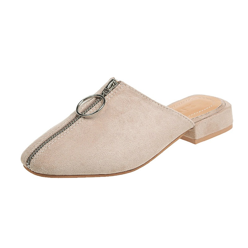 Ericdress Closed Toe Zipper Slip-On Casual Slippers