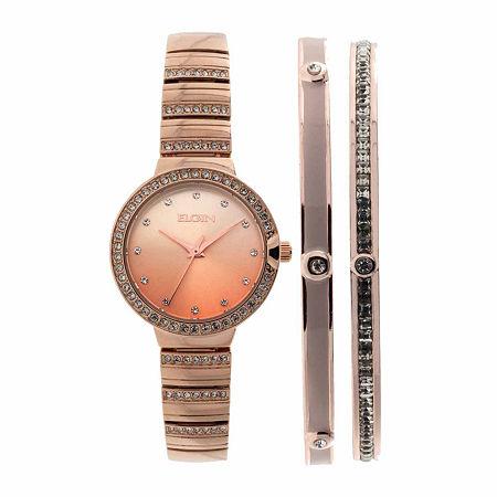 Elgin Womens Rose Goldtone Bracelet Watch-Eg160012rgst, One Size , No Color Family