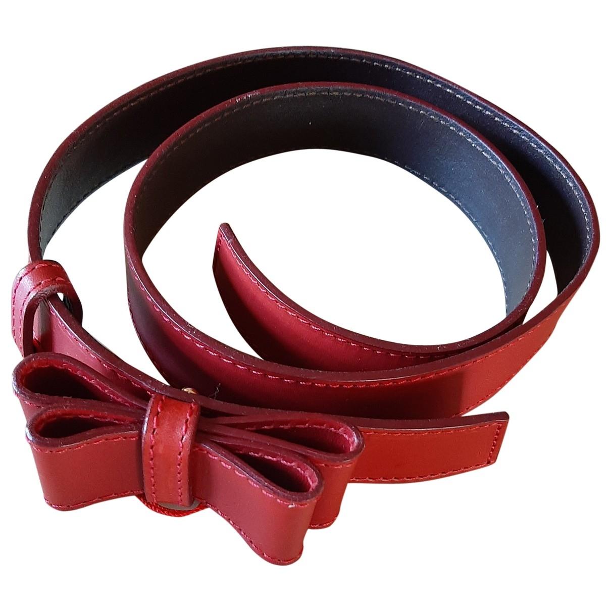 Valentino Garavani - Ceinture   pour femme en cuir - rouge