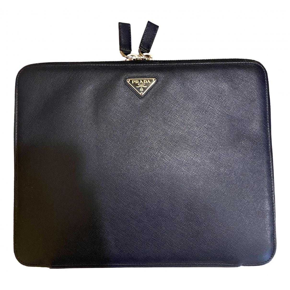 Prada - Accessoires   pour lifestyle en cuir - bleu