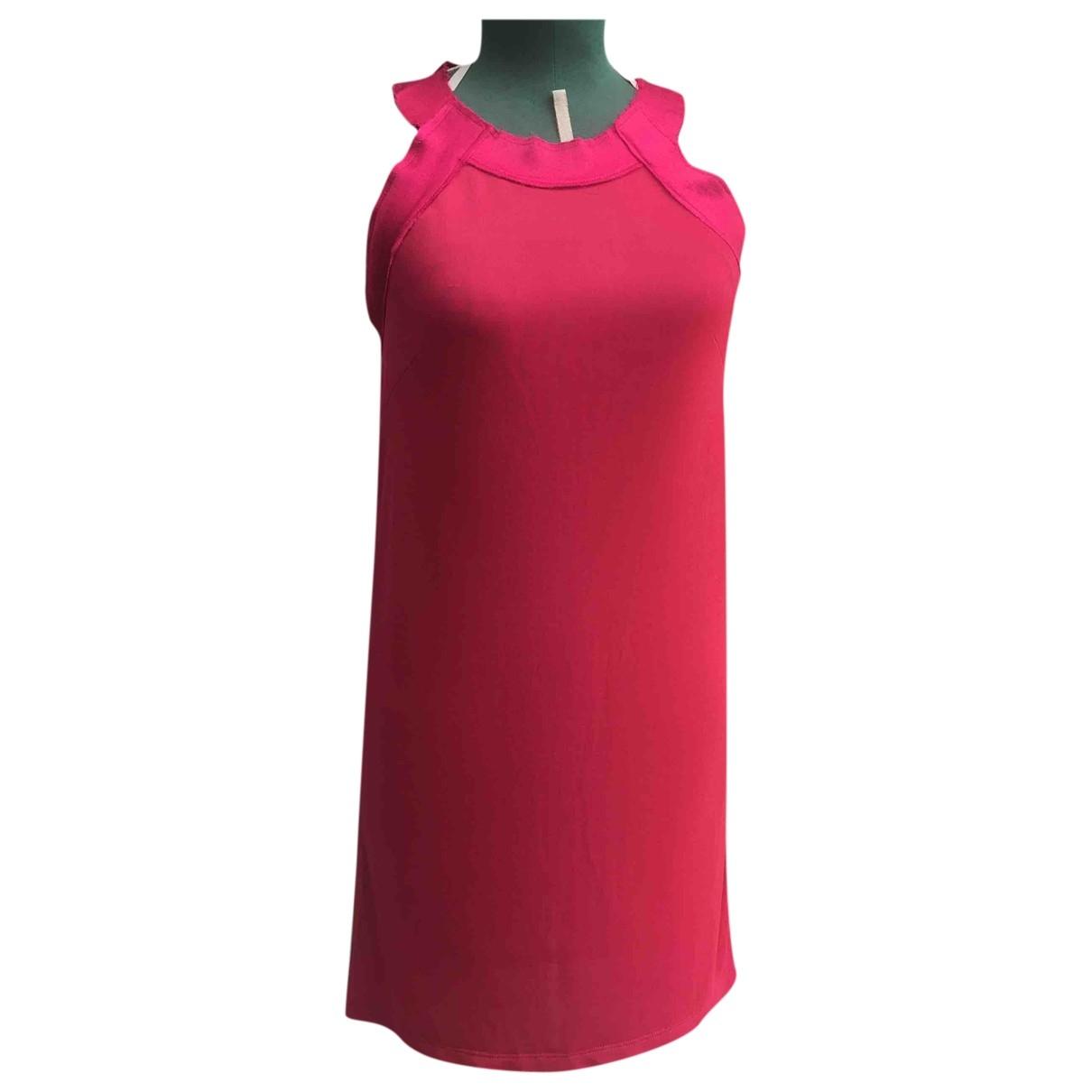 Alberta Ferretti \N Kleid in  Rot Seide