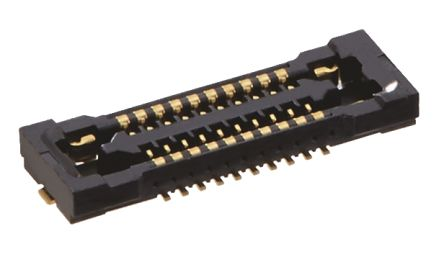 Hirose BM24 24 Series 0.35mm Pitch 2, 20 Way Straight SMT Female FPC Connector, Vertical Contact (1000)
