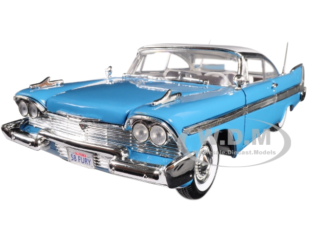 1958 Plymouth Fury Blue with White Top