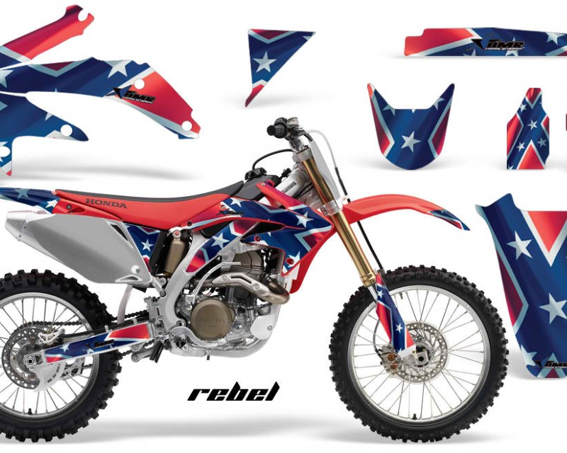 AMR Racing Dirt Bike Graphics Kit Decal Sticker Wrap For Honda CRF450R 2005-2008áREBEL