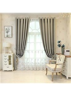 European Style Lovely Embroidered Floral Breathable Custom Sheer Curtains