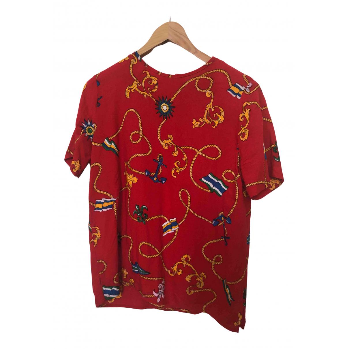 - Top Epaulettes pour femme en coton - rouge