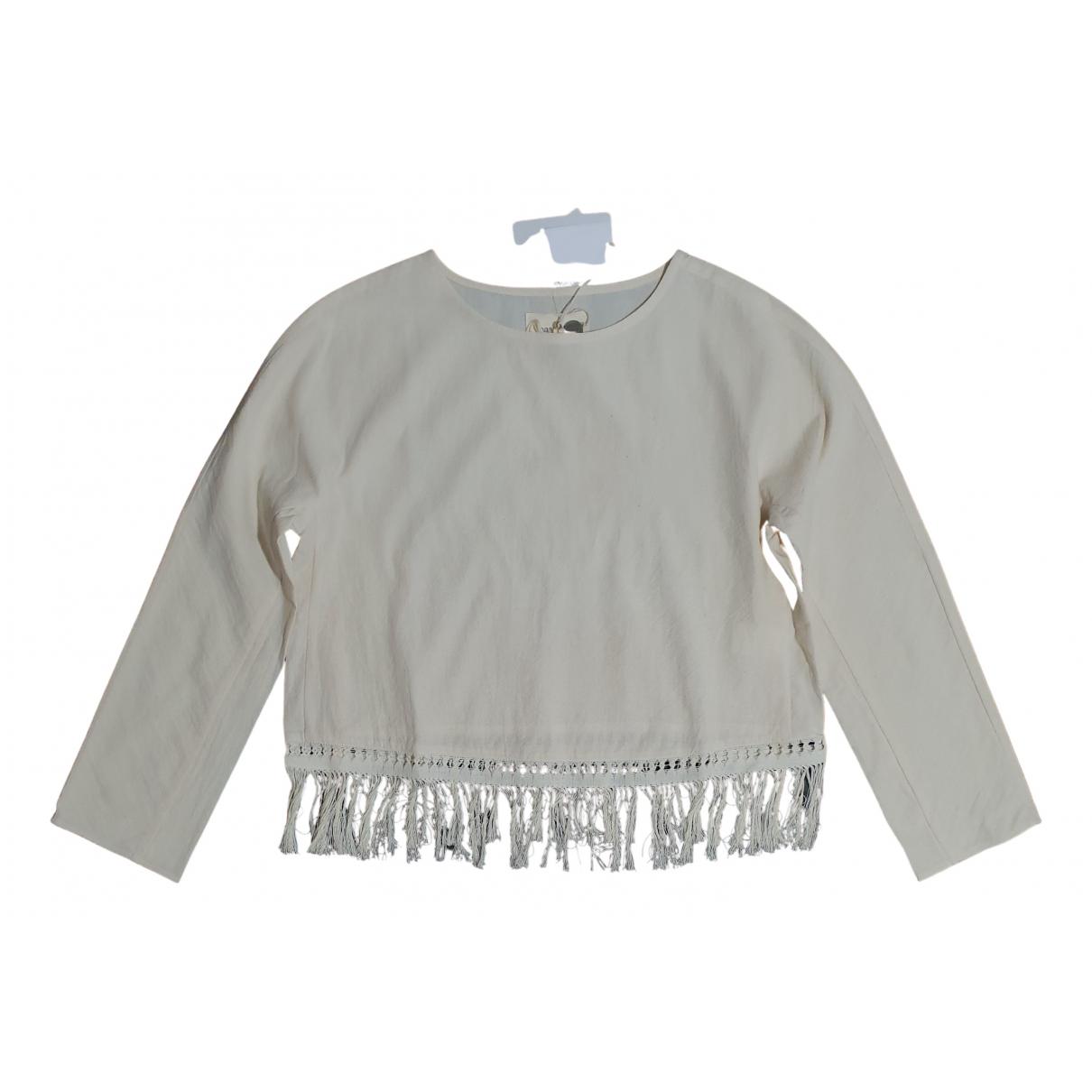 Nanushka - Top   pour femme en coton - beige