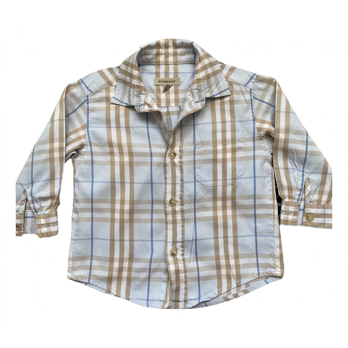Burberry - Top   pour enfant en coton - turquoise