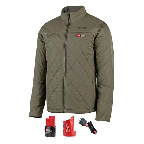 Milwaukee M12™ Heated Axis™ Jacket Kit M (Olive Green)