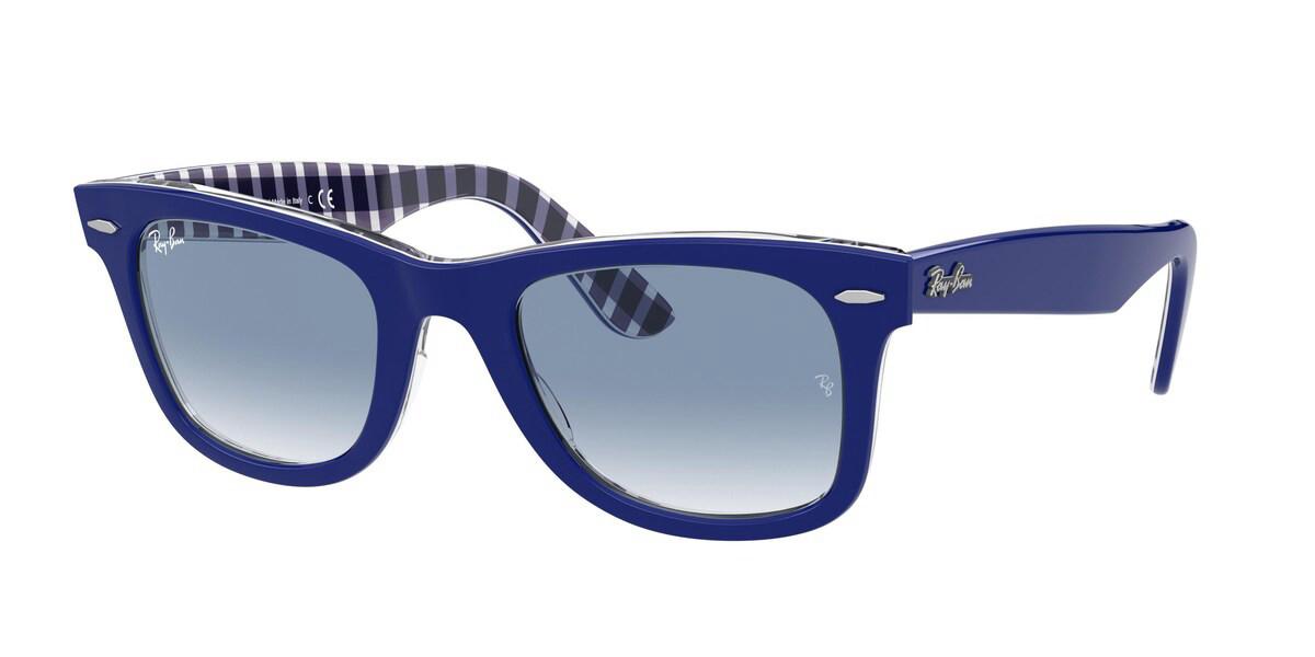 Ray-Ban RB2140 Wayfarer 13193F Men's Sunglasses Blue Size 50