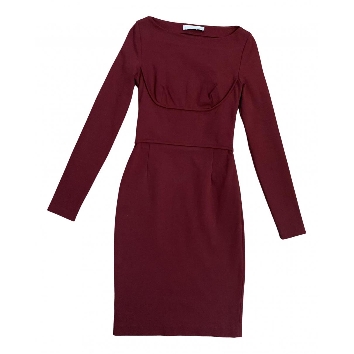 Stella Mccartney - Robe   pour femme en coton - elasthane - bordeaux