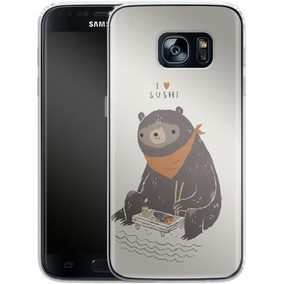 Samsung Galaxy S7 Silikon Handyhuelle - Sushi Bear von Louis Ros