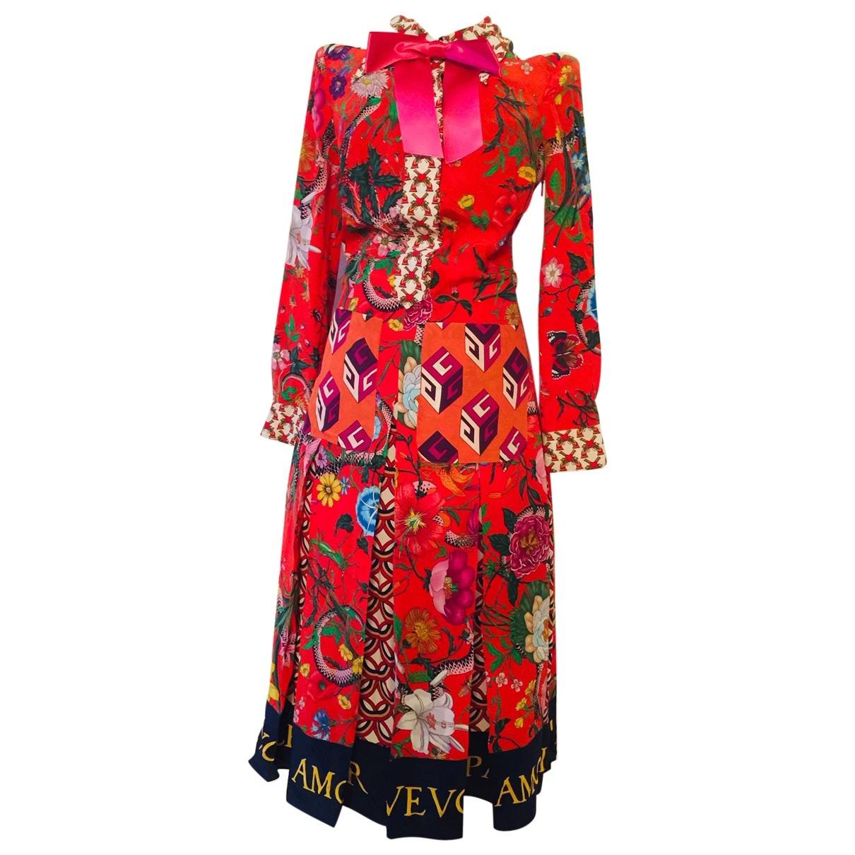 Gucci \N Multicolour Silk dress for Women 38 IT