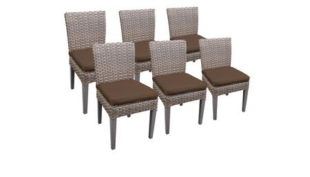Monterey Collection MONTEREY-TKC290b-ADC-3x-C-COCOA 6 Side Chairs - Beige and Cocoa