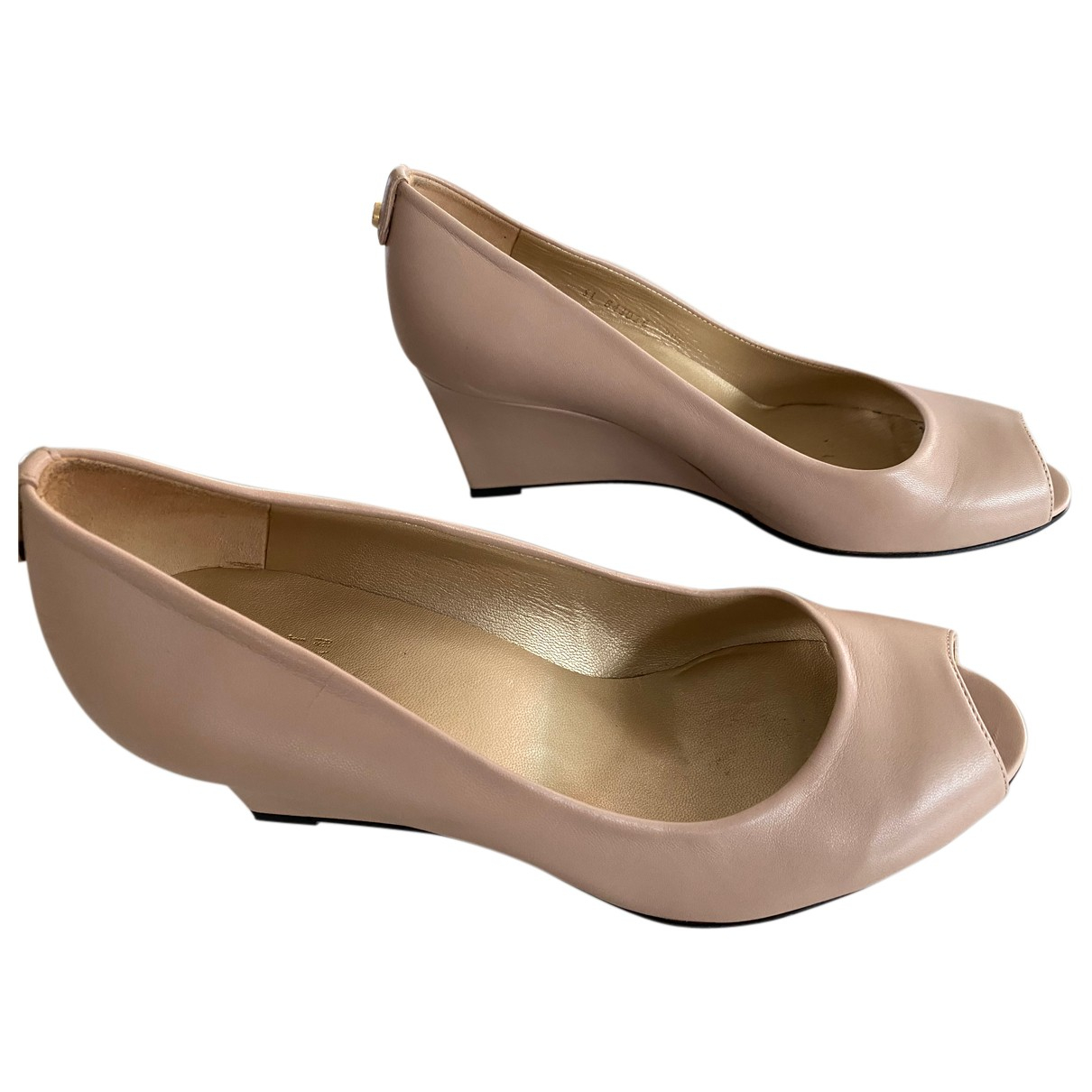 Stuart Weitzman N Beige Leather Heels for Women 39.5 EU