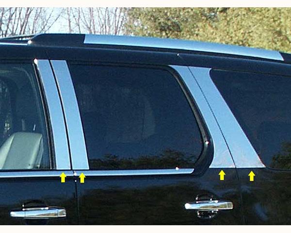 Quality Automotive Accessories 8-Piece Pillar Post Trim Kit Cadillac Escalade 2008