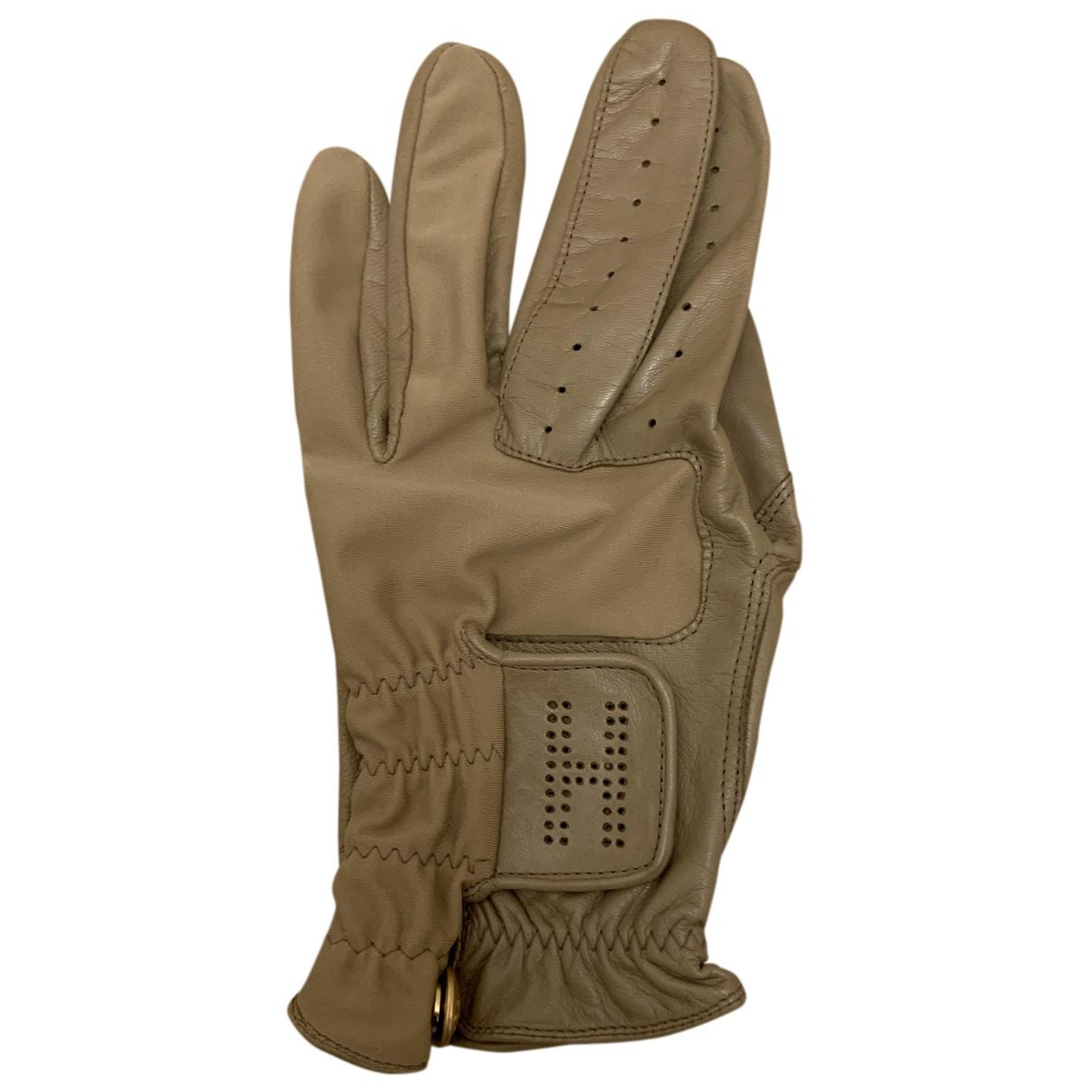 Hermes \N Handschuhe in  Beige Leder