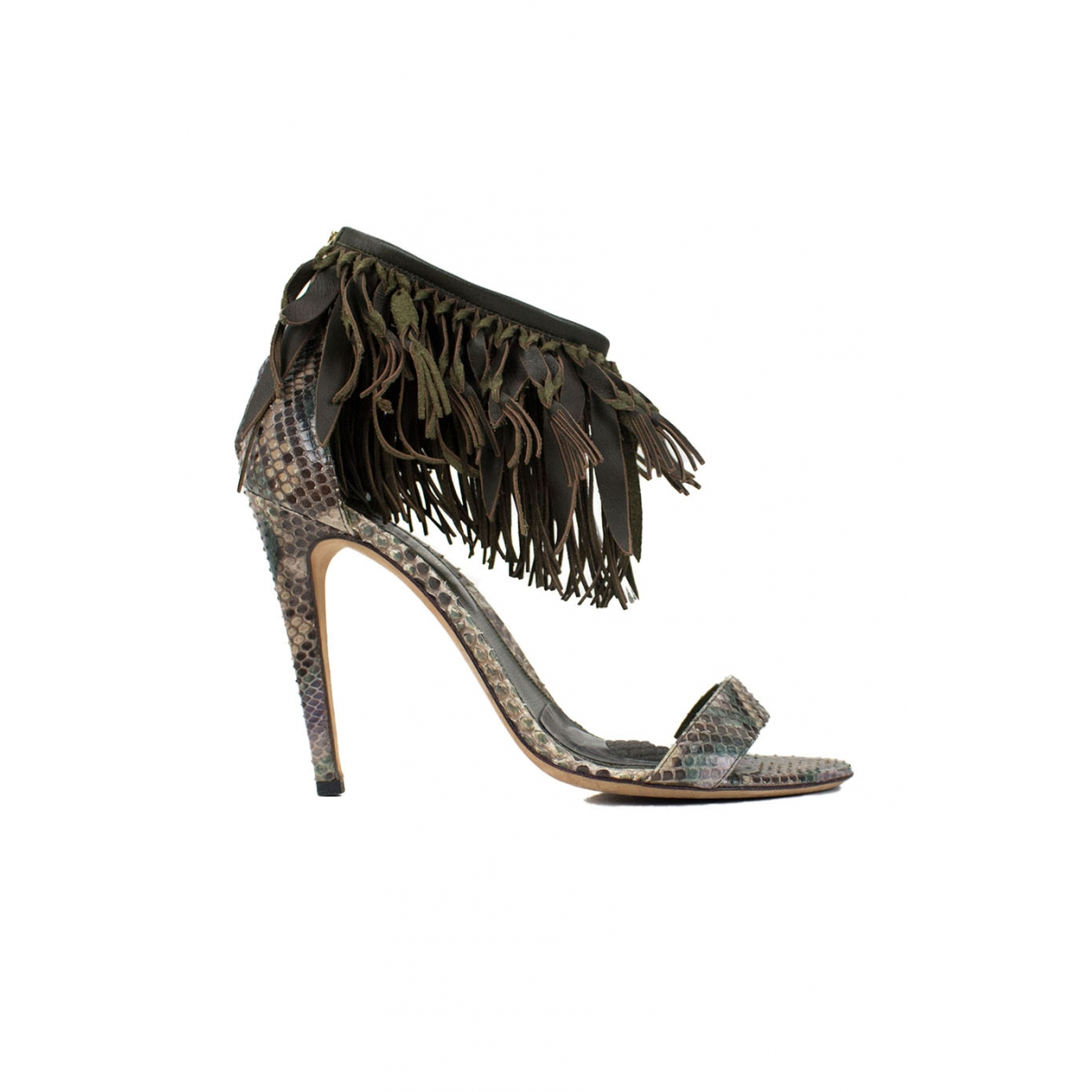Sergio Rossi \N Brown Water snake Sandals for Women 39 EU