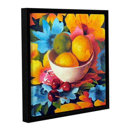 Brushstone Cherry Surprise Gallery Wrapped Floater-Framed Canvas Wall Art, One Size , Orange
