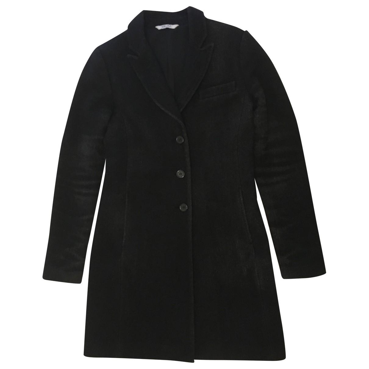 Liu.jo \N Anthracite Wool coat for Women 42 IT