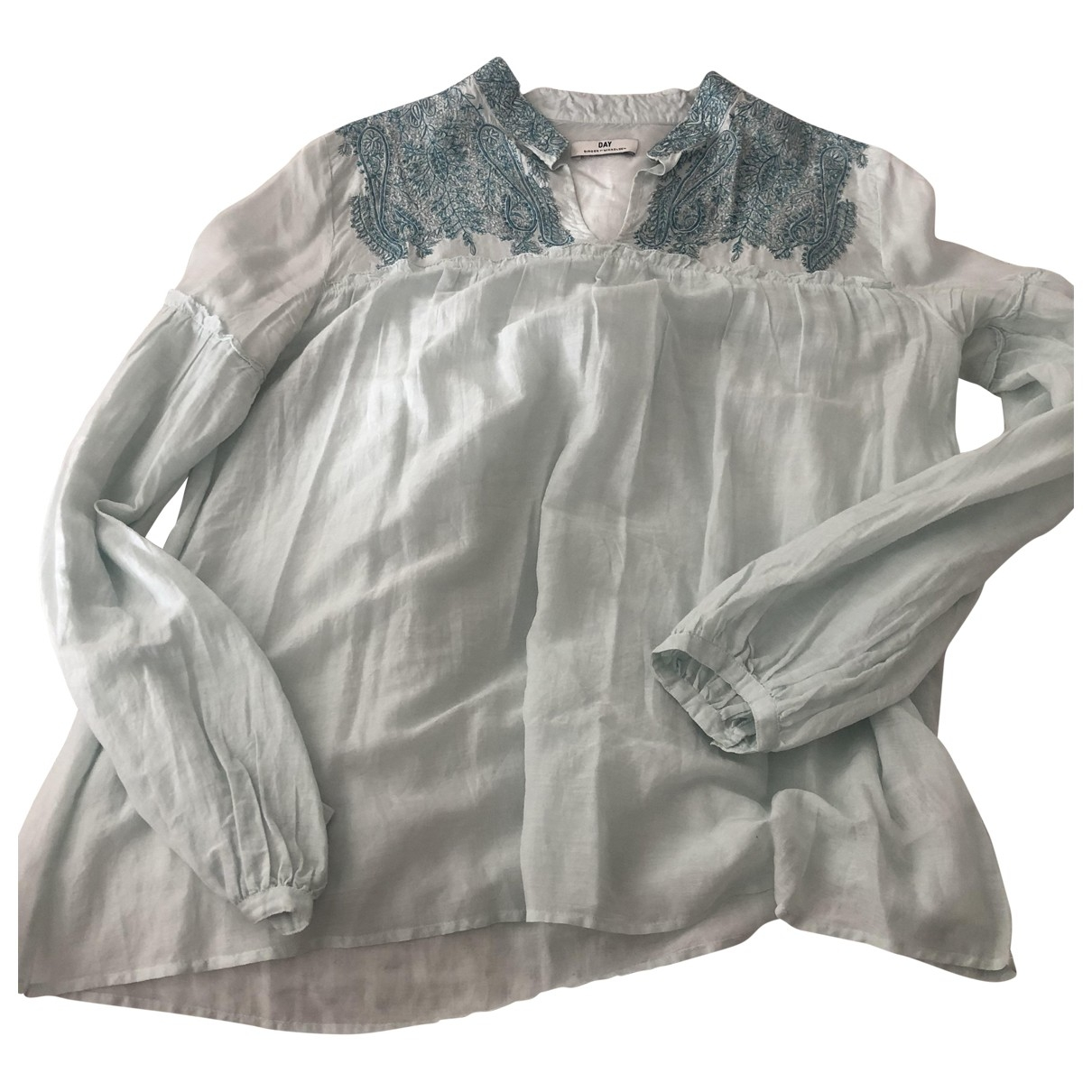 By Malene Birger \N Top in  Blau Seide