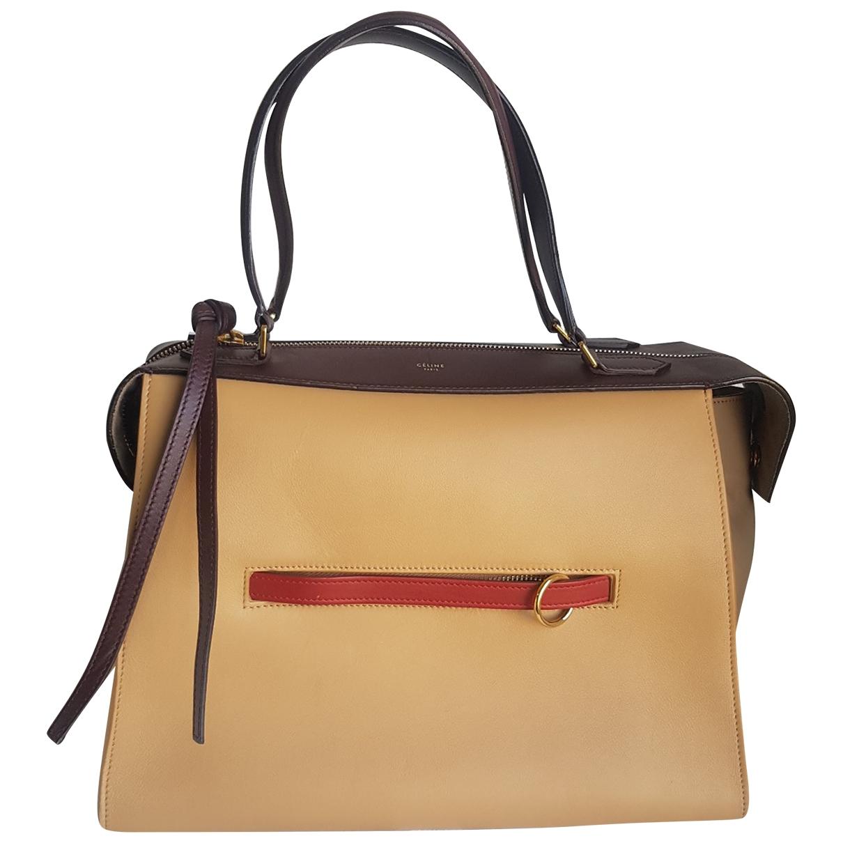 Celine Ring Beige Leather handbag for Women \N