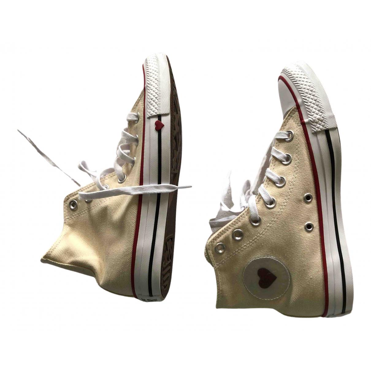 Converse \N Sneakers in  Ecru Leinen