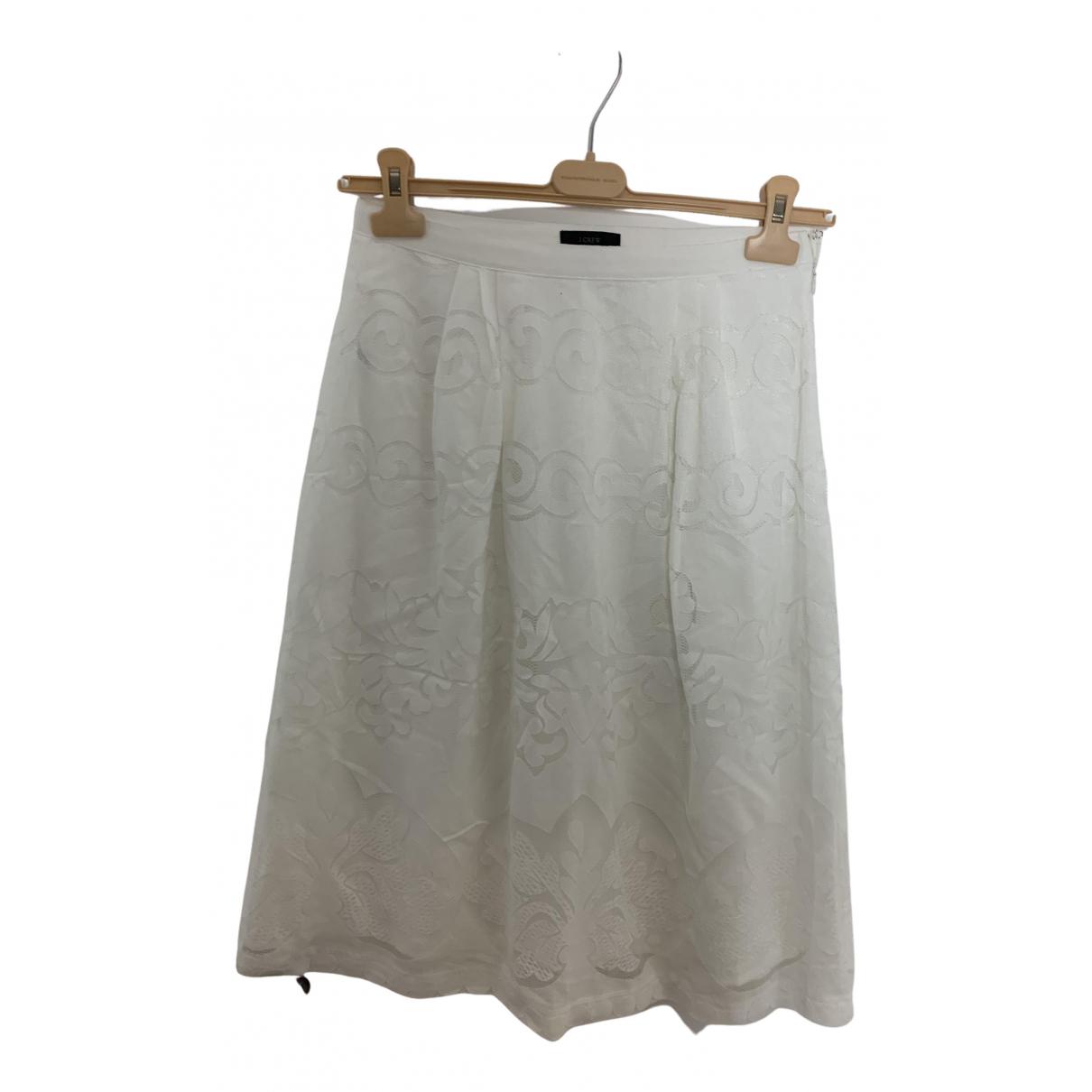 J.crew - Jupe   pour femme en coton - blanc