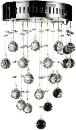 V2006W12C/EC 2006 Galaxy Collection Wall Sconce D:12In H:17In E:7In Lt:3 Chrome Finish (Elegant Cut