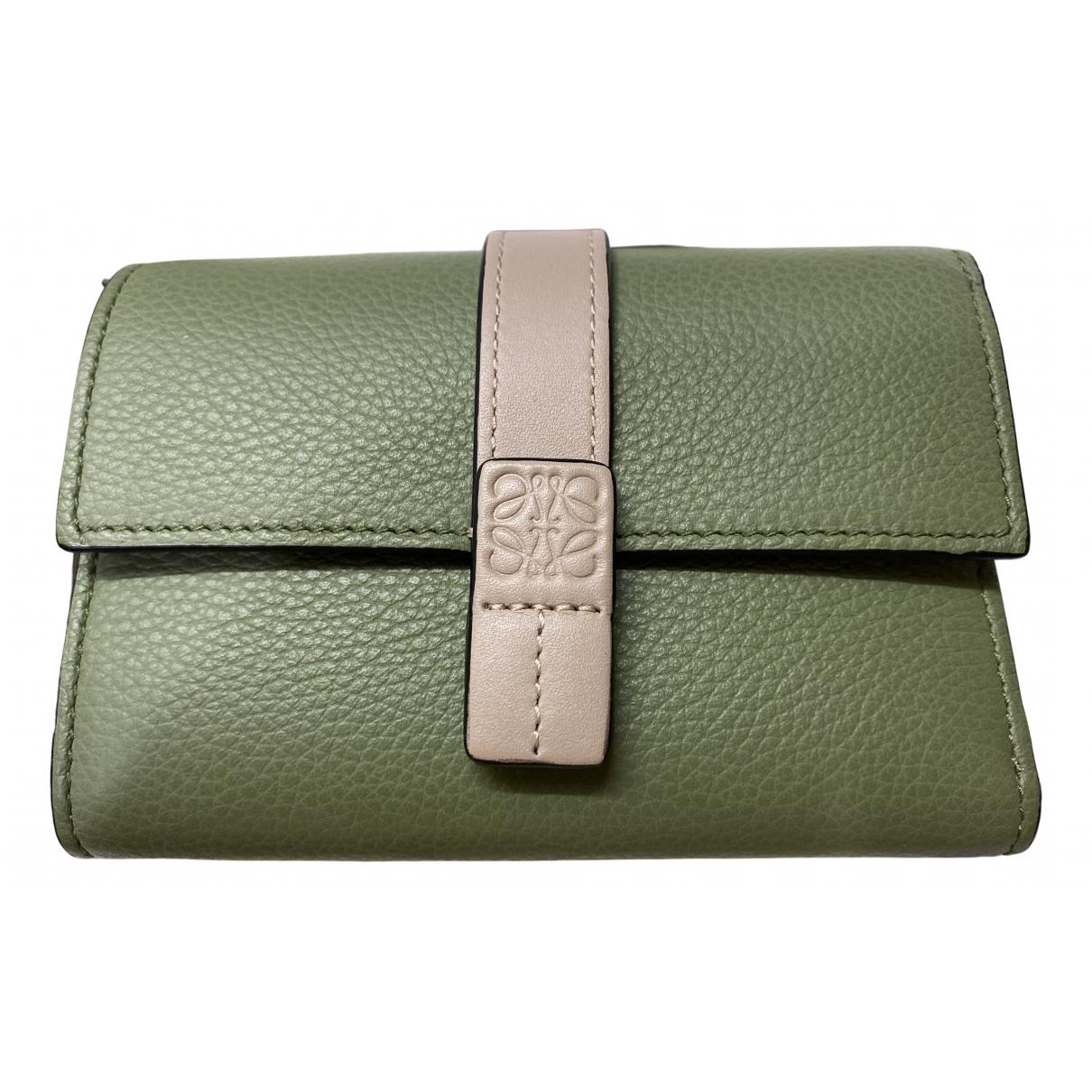 Loewe - Portefeuille   pour femme en cuir - vert