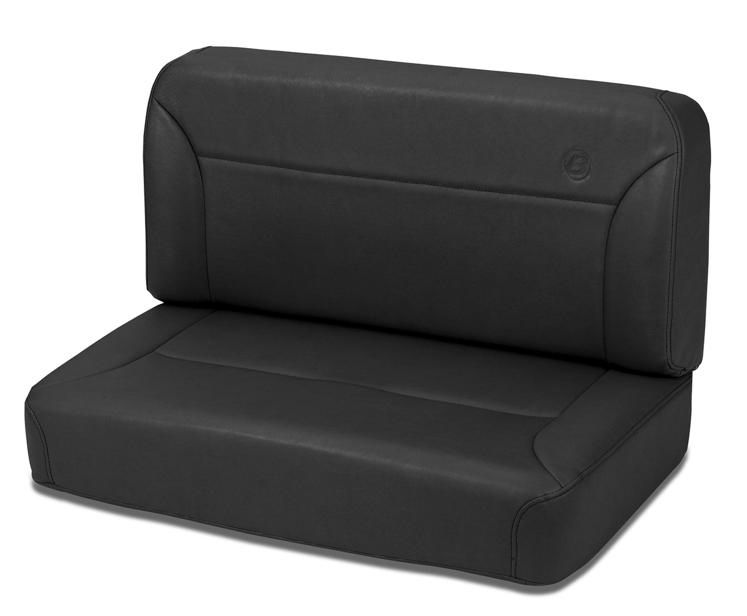 Bestop 39437-01 All Vinyl Black Crush Trailmax II Fixed-Back Rear Bench Seat Jeep CJ-5 | CJ-7 | Wrangler YJ 1955-1995