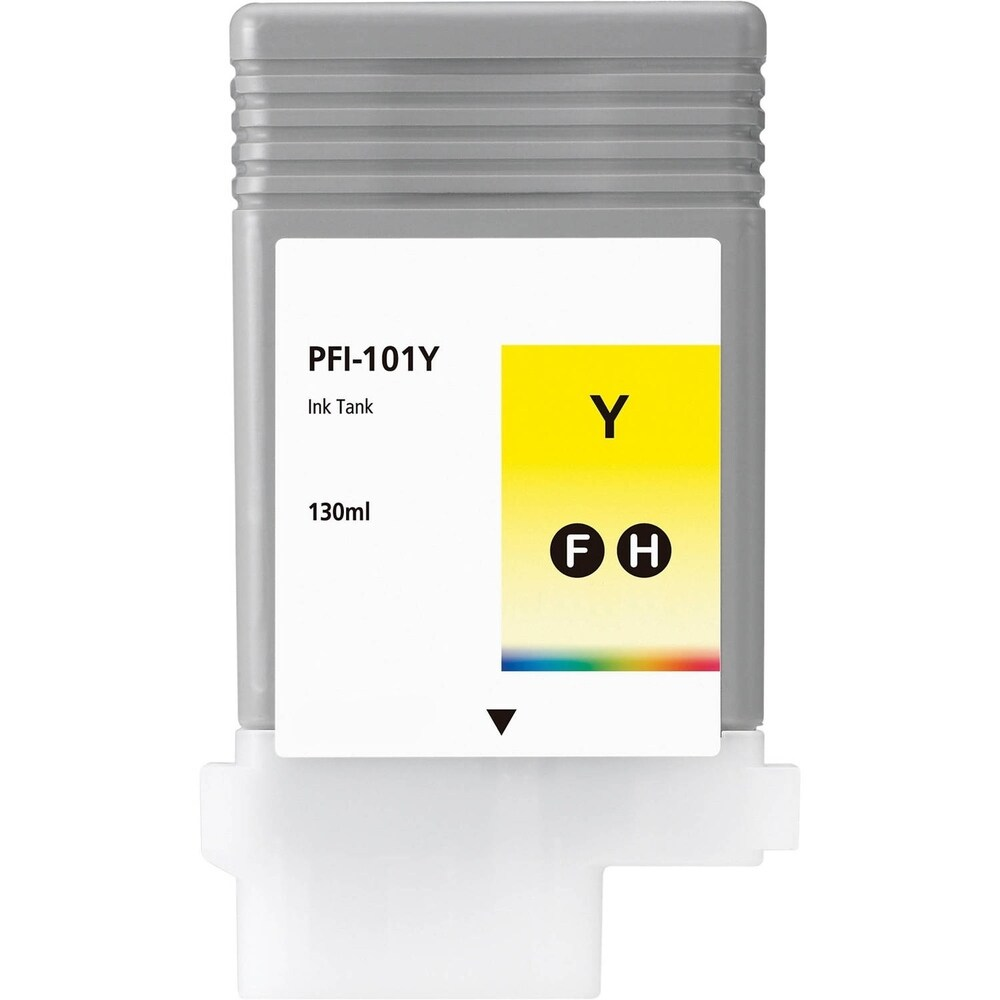 1PK Compatible PFI-101Y Ink Cartridge for Canon ImagePROGRAF iPF5000 5100 6000S 6100 6200 Yellow (Pack of 1) (Yellow)