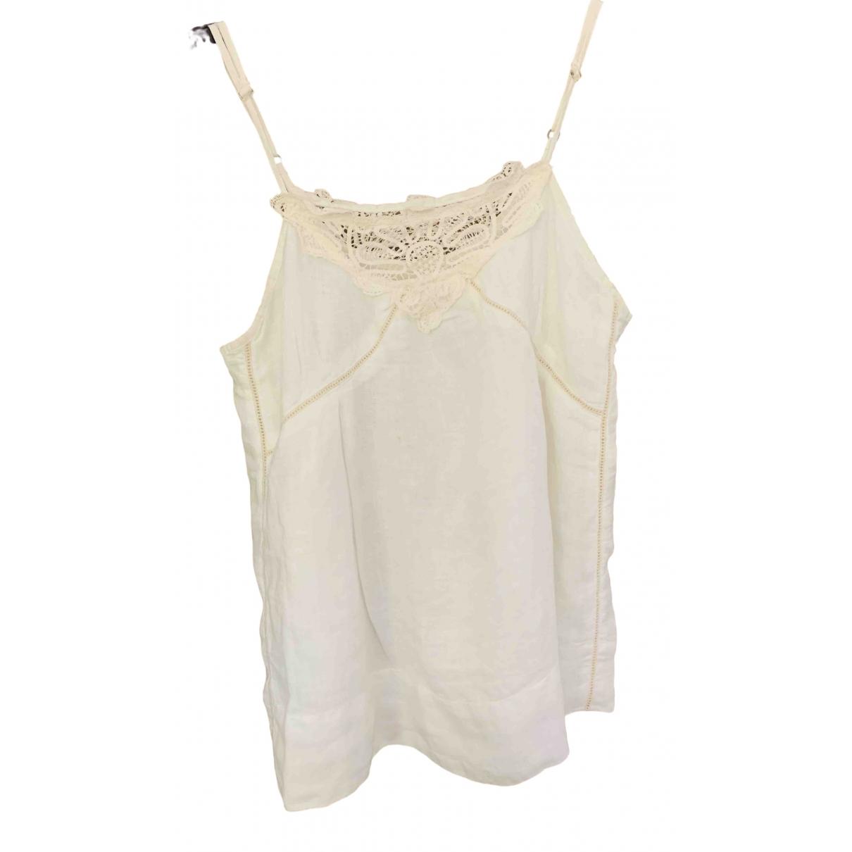 120% Lino \N White Linen  top for Women 38 FR